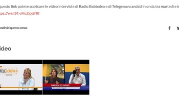 Disponibili le interviste a Radio Babboleo/Telegenova in occasione dell